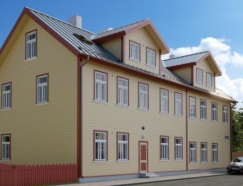 Kesk 1a, Tartu – korterelamu rekonstrueerimisprojekt