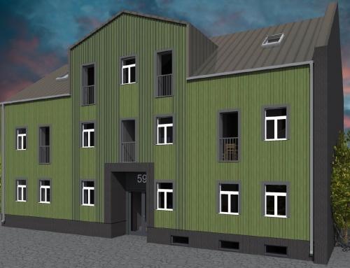 Tartu linn – korterelamu ehitusprojekt